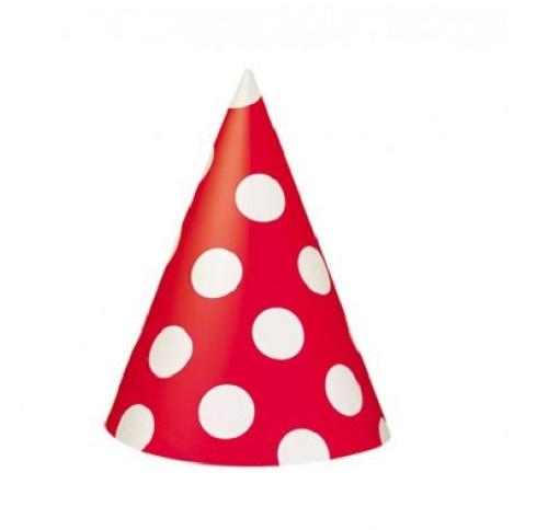 Chapéus Vermelho Bolas