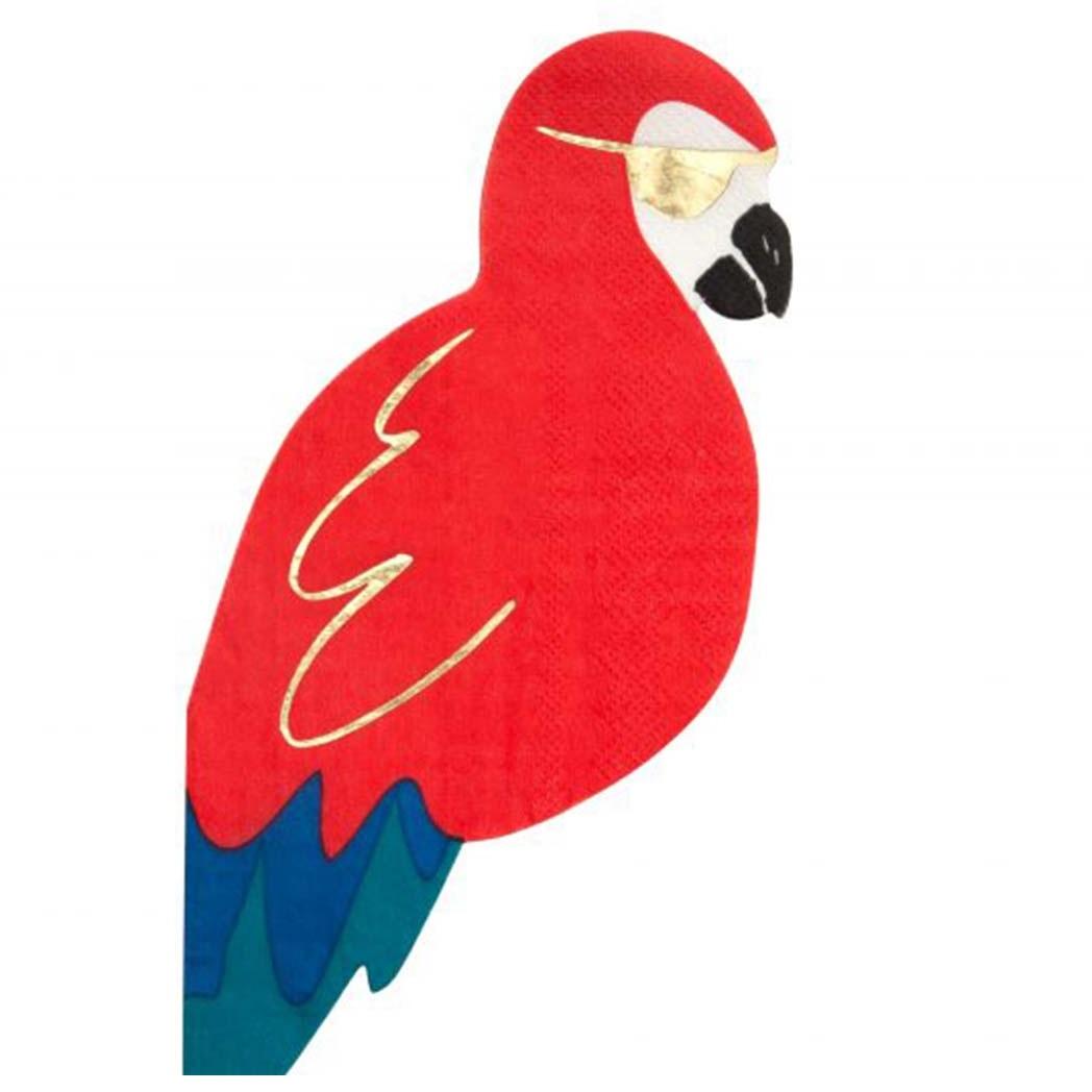 Guardanapos Piratas Papagaio