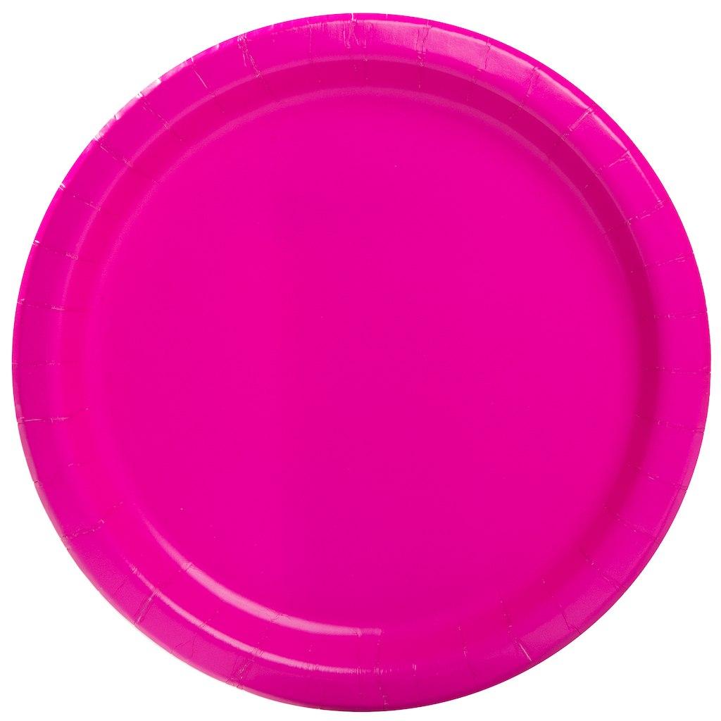 Pratos Rosa Neon Grandes