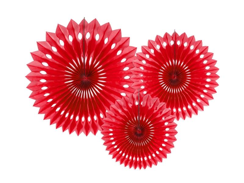 Rosetas Vermelho Conj. 3