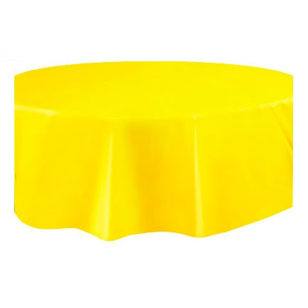 Toalha Amarela Redonda