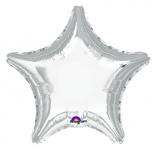 Balão Estrela Prateado