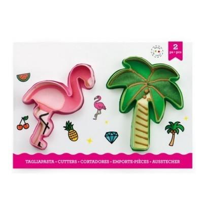 Conj. 2 Cortadores Flamingo e Palmeira