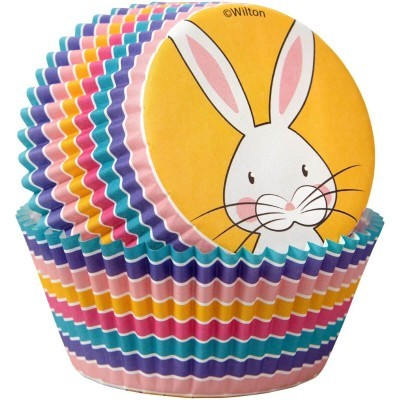 Conj. 24 Formas + Toppers Happy Easter