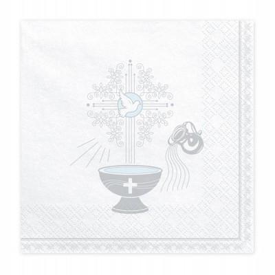 Guardanapos Batismo Prateado