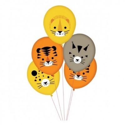 Conj. 5 Balões Animais Selva