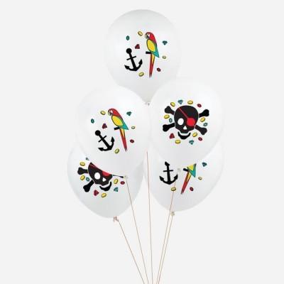 Conj. 5 Balões Piratas