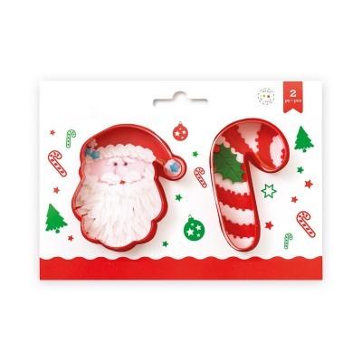 Conj. 2 Cortadores Pai Natal e Cana