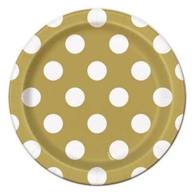 Pratos Dourados Bolas Pequenos