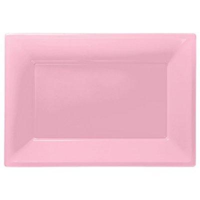 Travessas Rosa Claro Plástico
