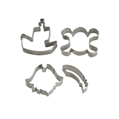 Conj. 4 Cortadores Piratas