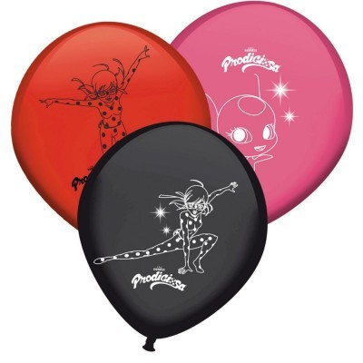 Conj. 8 Balões Ladybug