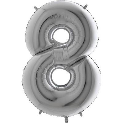 Balão Gigante 8 Prateado