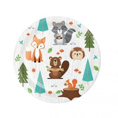 Pratos Animais Bosque Pequenos
