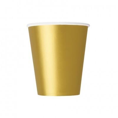 Copos Dourado Metálico Lisos