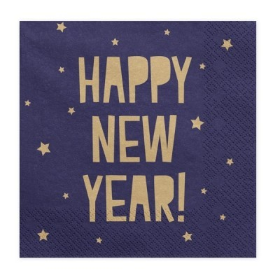 Guardanapos Happy New Year Azuis