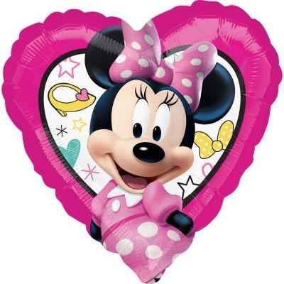 Minnie Coração Rosa Balão Médio