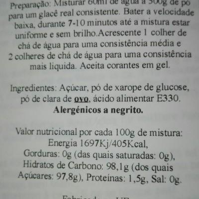Preparado Glacê Real 900g