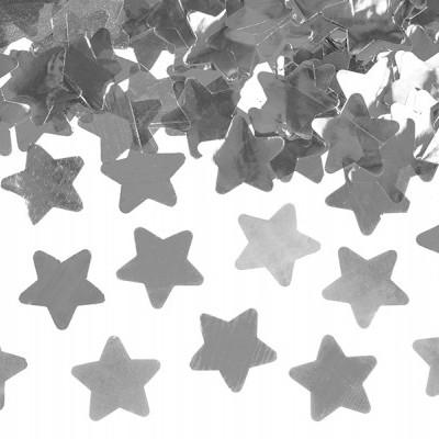 Canhão Confetis Estrelas Prateadas 40cm