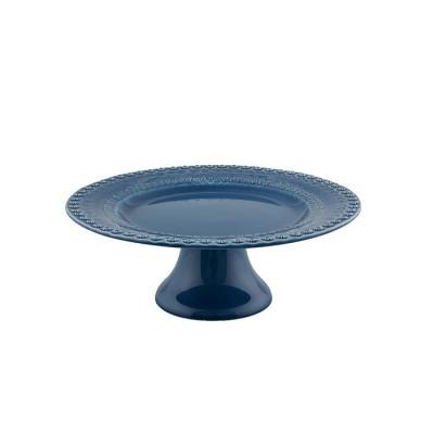 Prato Pé Alto Azul 28cm