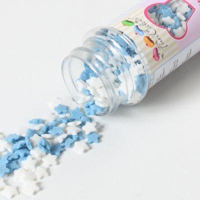 Confetis Açúcar Estrelas Azul e Branco