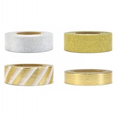 Washi Tape Gold Silver Gliter