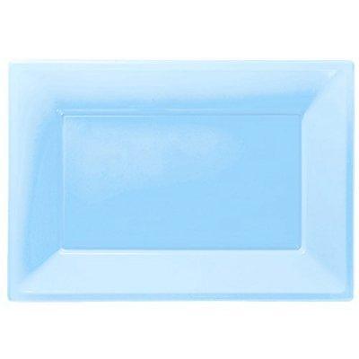 Travessas Azul Claro Plástico