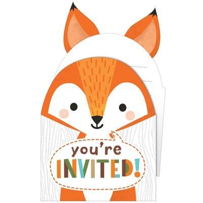 Convites Animais Bosque Raposa