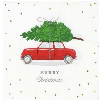 Guardanapos Natal Carro Pequenos