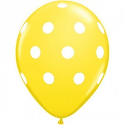 Conj. 6 Balões Bolinhas Amarelos