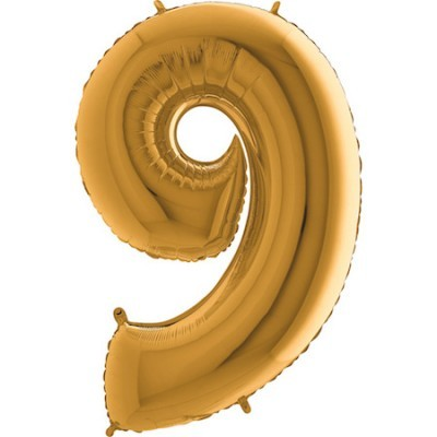 Balão Gigante 9 Dourado