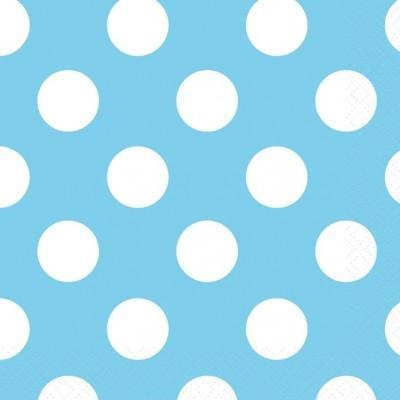 Guardanapos Azul Claro Bolas