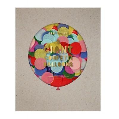 Kit Balões Gigantes Transparentes Confetis Coloridos