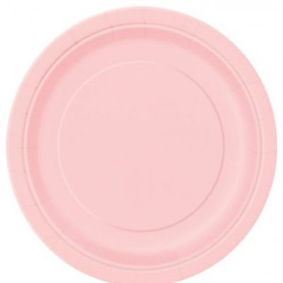 Pratos Rosa Claro Pequenos