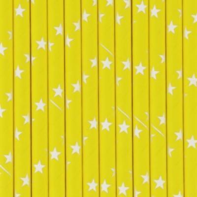 Palhinhas Amarelo Estrelas - Conj. 25