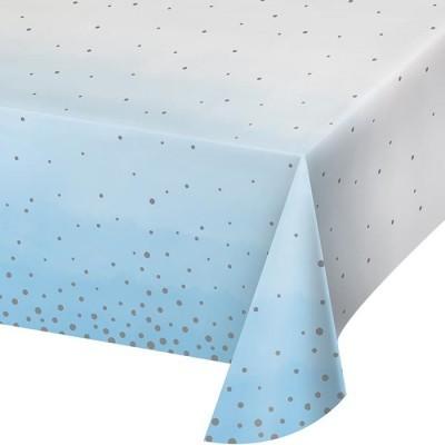 Toalha Ombre Azul Bolinhas Prateadas