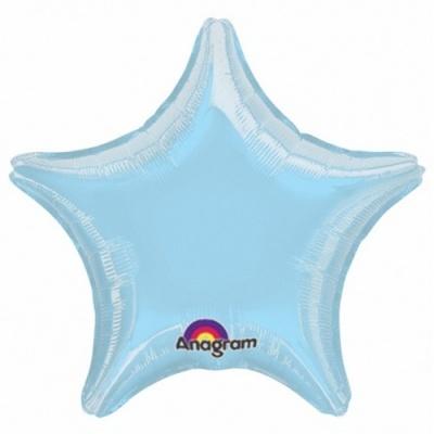 Balão Estrela Azul Claro