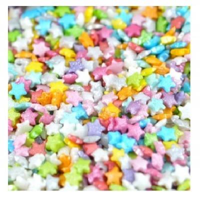 Confetis Açúcar Mini Estrelas Coloridas