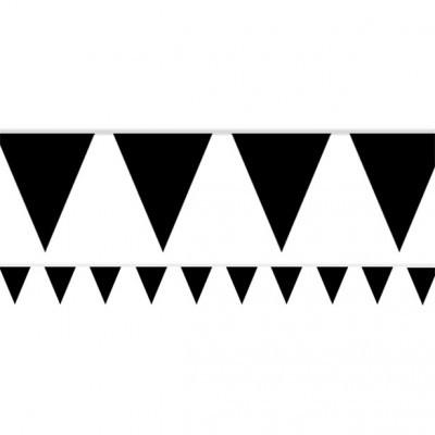 Bandeirolas Papel Preto Lisas