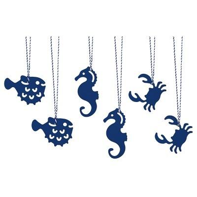 Etiquetas Animais do Mar