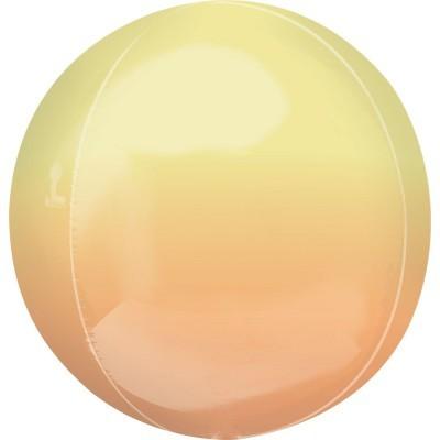 Balão Orbz Ombre Amarelo Laranja