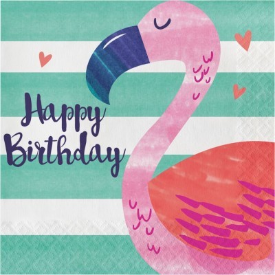 Guardanapos Flamingo Rosa
