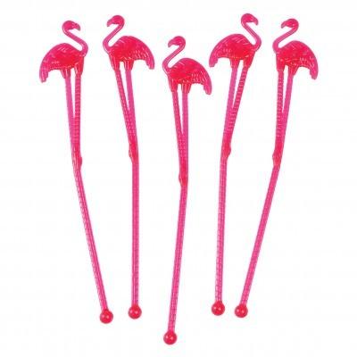 Palitos Flamingos Rosa Altos