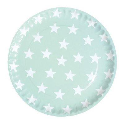 Pratos Menta Estrelas