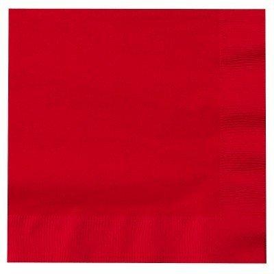 Guardanapos Vermelho Lisos