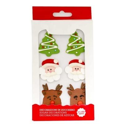 Conj. 6 Decorações de Açúcar Natal