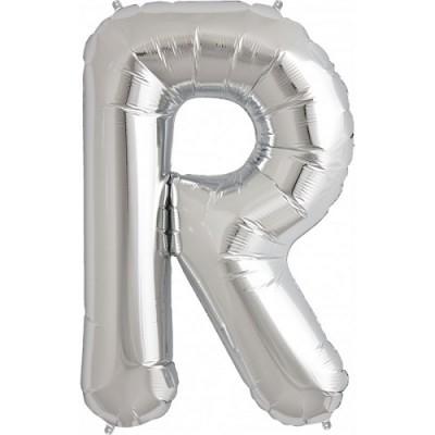 Balão R Prateado