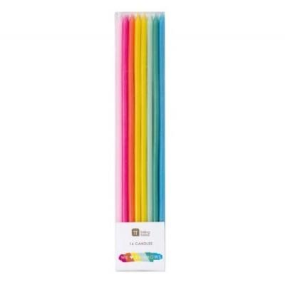 Conj. Velas Altas Rainbow