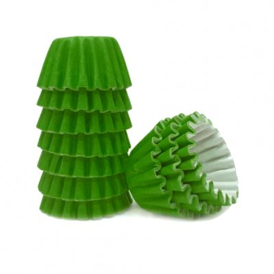 Conj. 100 Mini Forminhas Verde