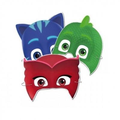 Conj. 6 Máscaras PJ Masks